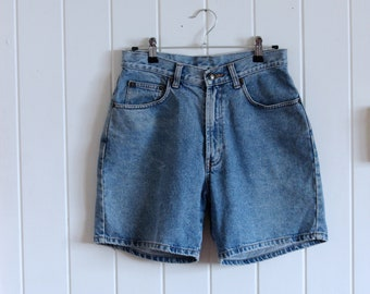 90's, denim, high waisted, short shorts