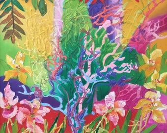 "Fedir Panchuk original oil painting on canvas ""Summer 2"""