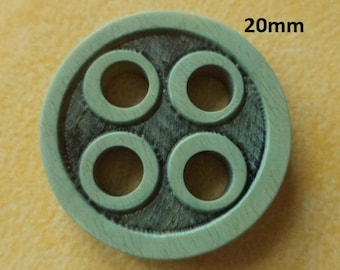 7 buttons 20 mm Turquoise Brown (691) button
