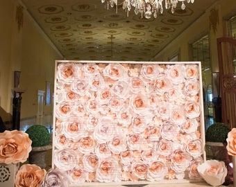 Paper flower backdrop wall 8x10