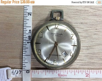 10%OFF3DAYSALE Vintage Andre Rivalle 17 Jewels Pocket Watch Swiss Made Shock Resistant Working Condition Used