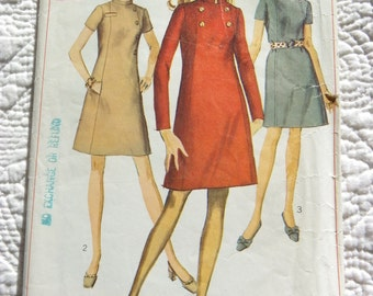 Retro 1968 SIMPLICITY Sewing Pattern 7796