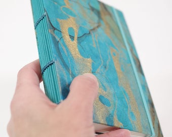Coptic Stitch Book Thai Marbled Momi Paper