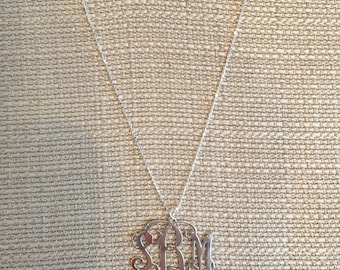 Sterling Silver Monogram  Made To Order Necklace