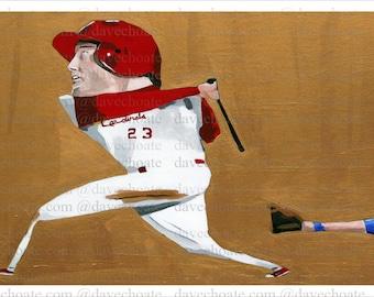 David Freese, St Louis Cardinals Art Photo Print
