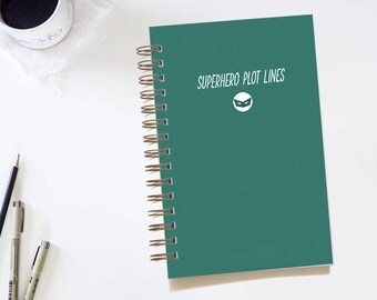 Superhero Notebook. Men's Notebook. Blank Notebook. Dot Grid Journal. Bullet Journal. Gifts for Him. Dot Grid Notebook. Men's Journal.