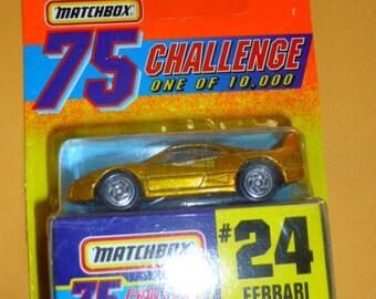 Matchbox Challenge Car #24 Ferrari new on card