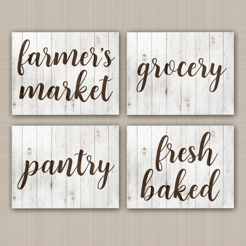 FARMHOUSE Wall Art CANVAS Or Prints Rustic Kitchen Signs