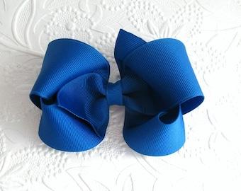 Royal Blue Hair Bow, Boutique Hair Bow, Toddler Hair Bows, Hair Accessories for Girls