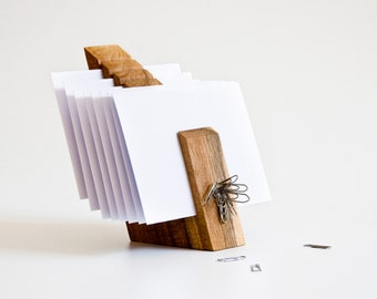 Letter Holder, Wood Mail Organizer, Desk Organization OSCAR