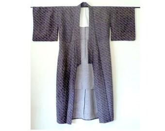 Men's Wool Kimono, Vintage Kimono, Robe