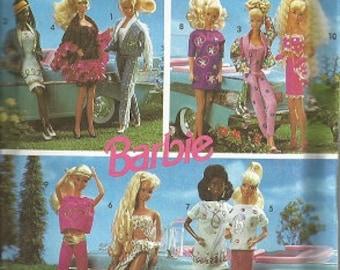 Vintage BARBIE SIMPLICITY PATTERN - 7712 - c. 1991 - Barbie Doll Wearable Art Wardrobe - Uncut