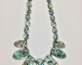 Abalone Necklace - Abalone Tab Necklace - Blue Paua Necklace - Shell Necklace - Abalone Shell Jewelry - Abalone Jewelry - Paua Jewelry