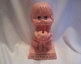 W.& R. Berries Happy Birthday Girl Figurine, 1972