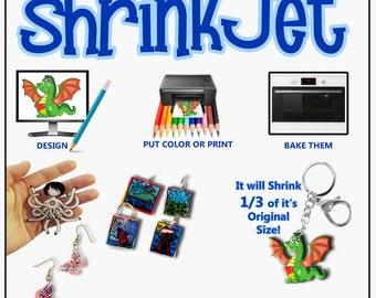 Ink Jet Shrink Film White Shrinkjet Kids Crafts