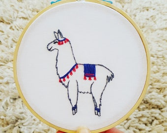 DIY Llama Embroidery Kit