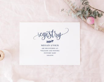 Gift Registry Template Kleobeachfixco - Wedding registry insert template