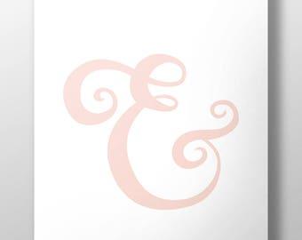 Ampersand Art Print (Coral)