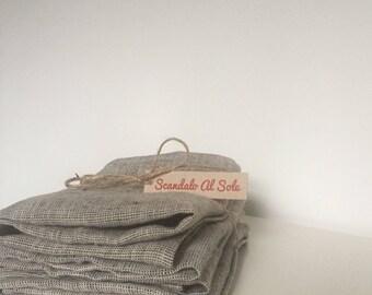 Linen Napkins 46 x 46 cm, linen serviettes, grey flax napkin, minimalistic tableware, boho wedding table, Rustic napkins set