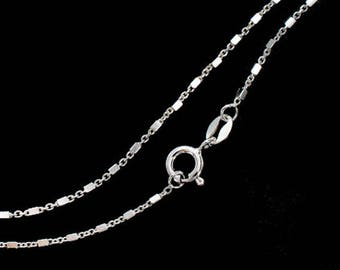 18 inches of 925 Sterling Silver Cube Bead Chain Necklace 1 x 1.5mm.  :th2632-18