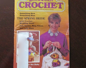 Quick and Easy Crochet Spring Holiday Volume 1 Issue 3  1986