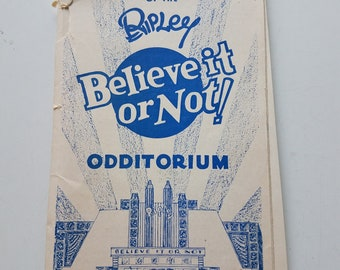 Vintage Ripley's Believe It Or Not, souvenir Odditorium postcards from 1934