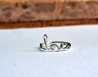 Wire Word Name Upper Finger Personalized Handcrafted Real Silver Plated Ring Handmade Adjustable Wire Love Knuckle Word