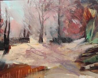 Morning light. Oil on canvas. Original painting.