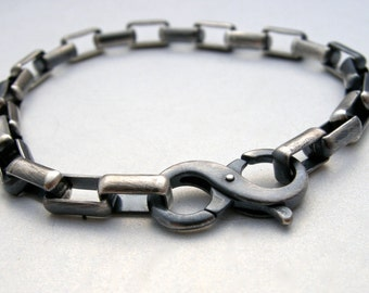 unisex sterling silver bracelet, unisex chain bracelet, mens bracelet, womens bracelet