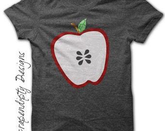 Apple Iron on Transfer - Teacher Iron on Shirt PDF / Kids Boys Girls Clothing Tshirt / School Printable Design / Apple Teacher Shirt IT85