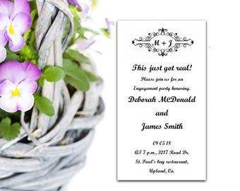 Engagement party Invitation Template, Editable invitation, Printable engagement,  Download