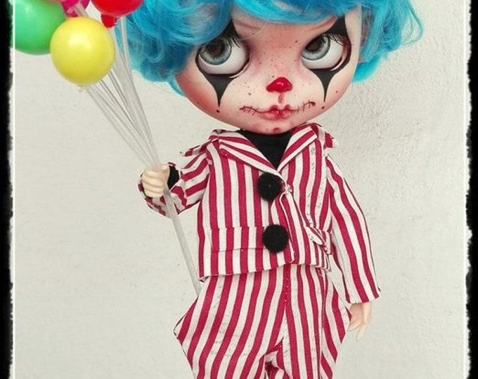 CLOUD Gothic Clown Blythe boy custom doll by Antique Shop Dolls