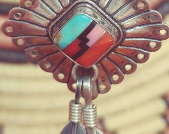 Vintage Southwest Style Sterling Earrings