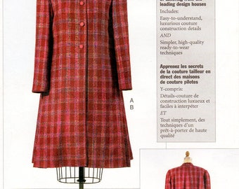 Sz 14/16/18 - Vogue Sewing Pattern 7539 by CLAIRE SHAEFFER - Misses' Lined, Flared, Four Button Swing Coat - Custom Couture Collection