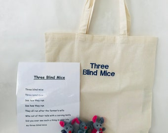 Three Blind Mice Story Bag / Story Sack