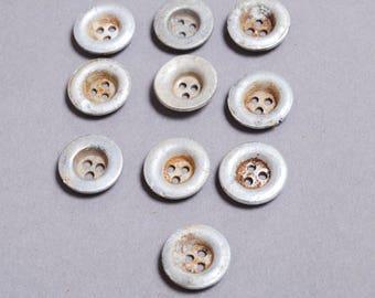 Set of 10 Antique original different buttons (n4)