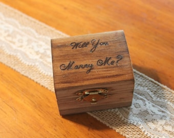 proposal ring box, engagement ring box, wedding ring box, ring holder, unique proposal box, wood ring box, rustic ring box, wedding keepsake