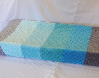 Blue Gray Ombre Changing Pad Cover