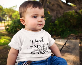 Beetlejuice Inspired - I, Myself, am Strange and Unusual - Baby's T Shirt or Onesie