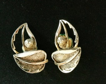 """Vintage Sarah Coventry """"Windsong"""" Clip-on Earrings, 1960s"""