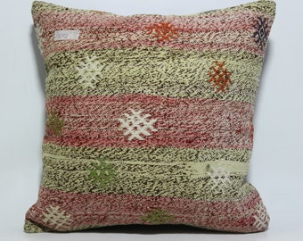 throw pillow 18x18 decorative turkish kilim pillow pink yellow pillow ethnich pillow antique pillow boho pillow handmade pillow SP4545-471
