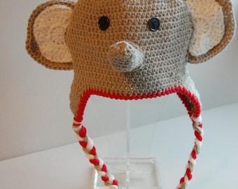 Roll Tide Elephant Crochet Hat