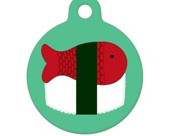 Pet ID Tag - Sushi Pet Tag, Dog Tag, Cat Tag