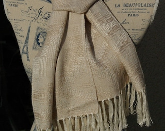 Scarf silk and baby camel handwoven