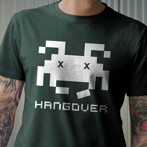 Invader Hangover Funny Adults T-shirt - S to 2XL