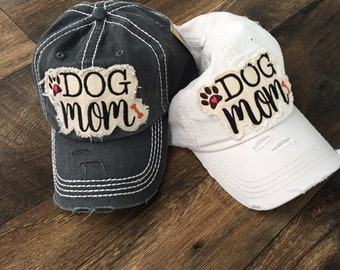 "Distressed ""Dog Mom"" Hat"