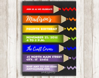 Art Party Invitation, Paint Party, Art Birthday Party, Rainbow Invitation, Rainbow Party, Rainbow Invite, Printable Invite BRAR03
