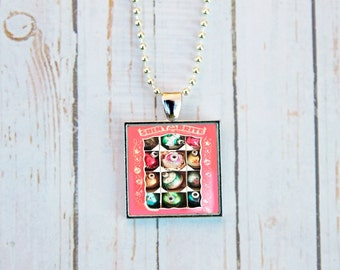 Shiny Brite Ornaments Necklace, Christmas Jewelry, Shiny Brite Christmas Ornaments, Vintage Christmas Necklace, Vintage Christmas Jewelry