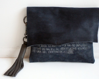 087 Handbag Boho Fringe Leather Clutch Pouch Purse , Leather Fashion Accessories