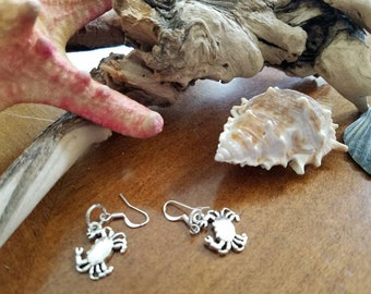 Blue Crab dangle earrings